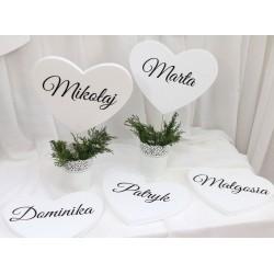 Inicjały na stół nowożeńców PA