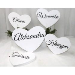 Inicjały na stół nowożeńców KD kremowe