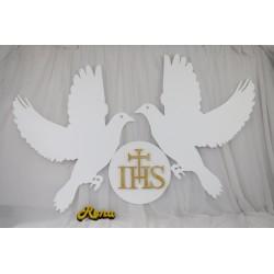 Duże gołębie z hostią IHS -...