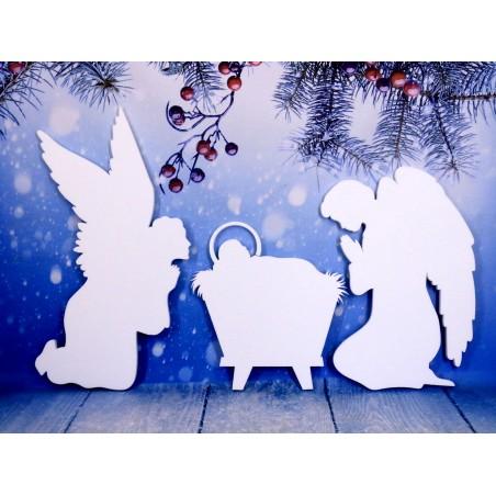 Jasełka, styropianowe dekoracje świąteczne