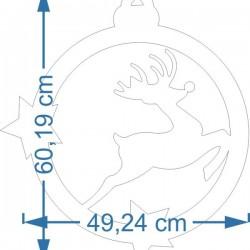 Stokrotka 18cm XPS - ecru 6 sztuk