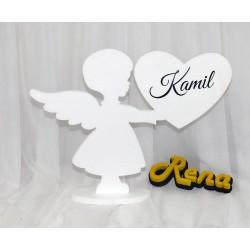 Aniołek z imieniem dziecka